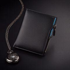財布 二つ折り財布 メンズ お札 カード 小銭入れ ブラック