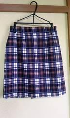 ココディールチェック柄スカートサイズ1