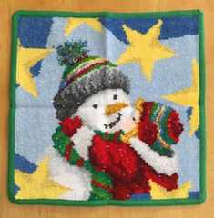 フェイラー☆ハンカチタオル クリスマス限定 雪だるま グリーン