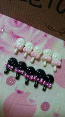 ネイルサイズ小さなペロペロキャンディ2色10個