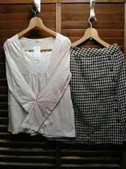 SM2*スカート、カットソー新品を含む二点セット