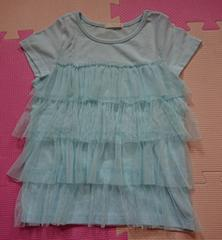 GU☆フリルTシャツ☆size110☆水色