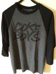 新品同様GROW AROUND coke boy7分丈灰×黒Tシャツ