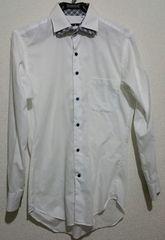 スーツセレクト 二重襟 ドレスシャツ S80