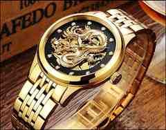 完全機械式腕時計 メンズ腕時計 金龍時計 運勢UP お見守り