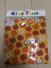 新品kids Foret☆りんごと花柄エプロン(三角巾付)