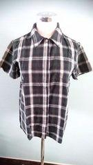 SM2 サマンサモスモス チェックシャツ M 大きめ 重ね着 半袖 羽織り 柔らかガーゼ