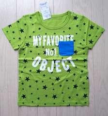130★星柄★ポケット付き半袖Tシャツ★新品