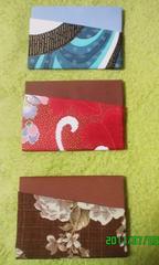 牛乳パックで作ったカード入れ3枚セット