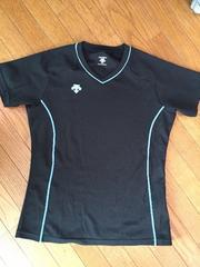 美品デサント半袖プラクティスTシャツ/レディースL/ブラック