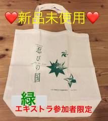 嵐 大野智 主演映画 忍びの国 エキストラバッグ・緑★非売品