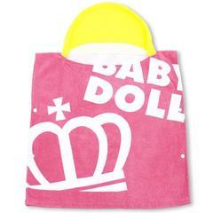 新品BABYDOLL☆フード付き ポンチョタオル ピンク ベビードール
