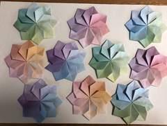 ハンドメイド  折り紙  花 10枚  壁面飾り 幼稚園  施設 結婚式