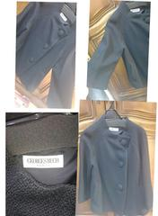 新品ジョルジュレッシュパリ日本製ミディ丈ショートコートガウチョワイドパンツスーツ