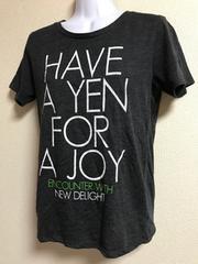 ★濃グレー×ロゴ入 シンプルTシャツ  L★
