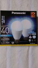 パナソニック 2個入り LED 電球 全方向タイプ 40W形 昼光色 送無