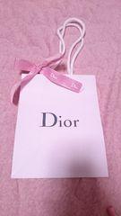 Dior★Miss Dior用ピンクリボン付★ショップ袋★19×15