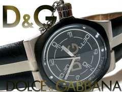 極レア 1スタ★ドルガバ/D&G【デカリューズ】 大型メンズ腕時計