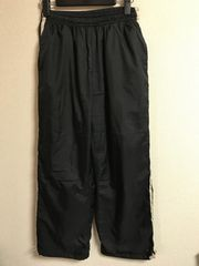 ★黒×ベージュライン 裾絞りジャージパンツ  L★