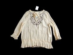 新品 定価¥4095 AS KNOW AS アズノウアズ 楊柳 刺繍 ブラウス