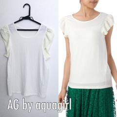 AG by aquagirl フリルスリーブカットソー Mサイズ