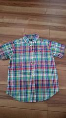 超美品ラルフローレン 半袖チェックシャツ  130