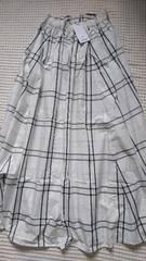 ☆新品moussy白黒チェックマキシスカート☆F ¥13800