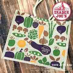 【TRADER JOE'S★エコバッグ】麻素材♪ビーチ♪夏♪買い物♪野菜