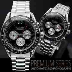 【全針稼動】バイカラー自動巻きクロノグラフ腕時計BCG39BB