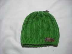 mb392 男 BILLABONG ビラボン 厚手 ニット帽 ビーニー 緑