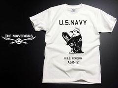 極厚!スーパーヘビーウェイトTシャツ・米海軍ペンギンモデルM