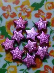 星のビーズ*pink銀色*10個set*画像の物
