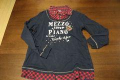 メゾピアノトレーナー サイズL 紺色
