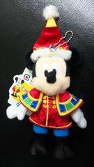 ディズニーランド TDL クリスマス サンタヴィレッジ 30周年 ぬいぐるみバッジ ミッキー