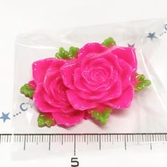 25*�@スタ*デコパーツ2個*葉付薔薇♪7