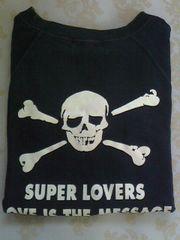 SUPER LOVERS/トレーナー生地の半袖Tシャツ