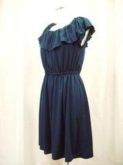 【エフデ】【未使用品】衿付き濃紺ミニワンピースです