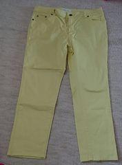 黄色のクロップドパンツ☆73
