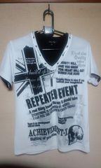 VネックホワイトシャツMサイズ