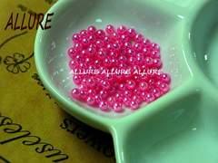 穴なしパール  3mm ピンク レジン最適 50粒