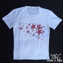 スターズ Tシャツ TEE 半袖 星 STAR 流星 流れ星 B系 HIPHOP281L