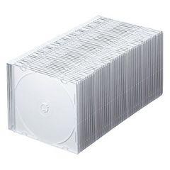 人気急上昇!DVD CDケース 1枚収納×50 5色ミックス