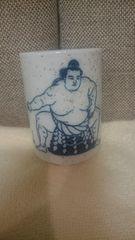 開封品(未使用) 大相撲 横綱 稀勢の里 湯呑み 陶器製。