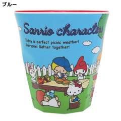 ◆サンリオキャラクターズ メラミンカップ/70年代(ブルー)