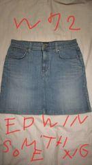 エドウィン サムシング EDWIN something Venus jeans デニムミニスカート W72