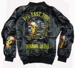 80sデッド未使用スカジャン フル刺繍 FAREAST沖縄 米軍 TOURジャケット