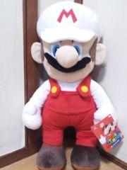 評価祭スーパーマリオ特大サイズぬいぐるみマリオ☆45�pファイアマリオ