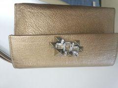 フルラ ビジューゴールド クラッチ財布