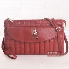 新品2wayキルティングダブルポーチ/ショルダーバッグ長財布にもレッド赤