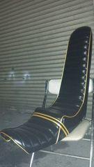 CBX400F/CBX550F 新品三段シート 60cm 黒レザー×黒エナメル×金パイピング